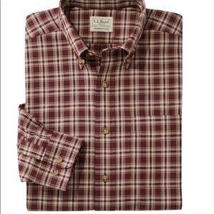 LLBean Men's Wrinkle-Free Twill Sport Shirt